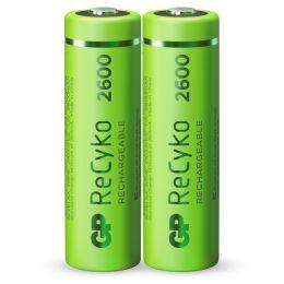 GP Mignon AA Akku Batterie ReCyko LR06 1,2V wiederaufladbar 2er Blister