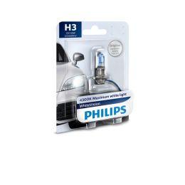 Philips Fahrzeugscheinwerferlampe H3 WhiteVision 12V 55W PK22s
