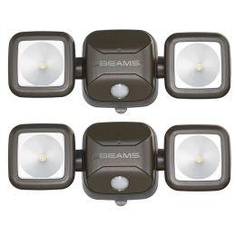 Mr Beams LED Strahler braun mit Bewegungsmelder MB3000 2er Pack