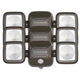 Mr Beams LED Strahler braun mit Bewegungsmelder MB3000 3er Pack