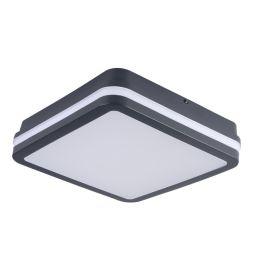 Kanlux graphitfarbene LED Deckenleuchte BENO 18W 840 NODIM eckig mit Sensor