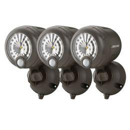 Mr Beams helle LED Scheinwerfer mit Bewegungsmelder MB360XT 3er Pack braun