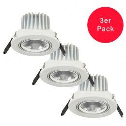 Opple weißer LED-Einbauspot Candice 4,5W 827 40° NODIM - 3er Pack