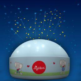 Niermann Kinder-Nachtlicht LOLO LOMBARDO mit Sternen-Projektion