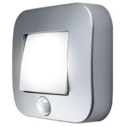 Ledvance LED Nachtlicht NIGHTLUX Hall 0,25W 840 Silber Sensor Batteriebetrieben