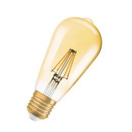 Osram goldene LED Rustikalampe Vintage Edition 1906 2,8W (21W) E27 824 300° NODIM