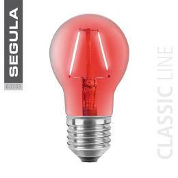 Segula LED Birnenlampe Classic rot 2W E27 NODIM