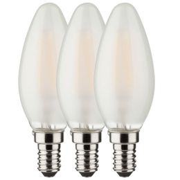 Osram LED Kerzenlampe Base Retro 4W (40W) E14 827 360° NODIM matt 3er Pack