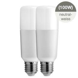 GE Bright Stik LED Röhrenform 15W (100W) E27 840 240° NODIM matt 2er Pack