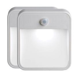 Mr Beams weißes LED Treppenlicht MB720 mit Bewegungsmelder 2er Pack
