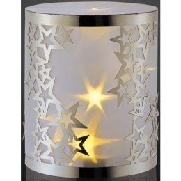 Hellum batteriebetriebenes LED Dekolicht 14cm mit Sternen und 3D-Folie
