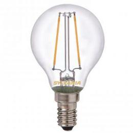 Sylvania LED Tropfenlampe Toledo Retro Filament 2W (25W) E14 827 NODIM klar
