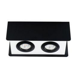 Kanlux Deckenleuchte TORIM max. 2x35W GU10 schwarz/weiß