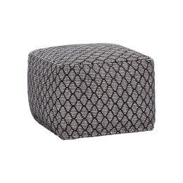 Hübsch schwarz-weißer Pouf mit Ethno Muster 45x45x35cm