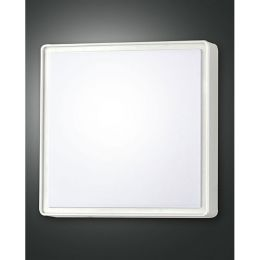 Fabas Luce weiße Wandleuchte OBAN 300x300mm