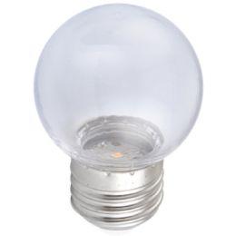 Firelamp LED Tropfenlampe 1W E27 2100K 270° NODIM klar