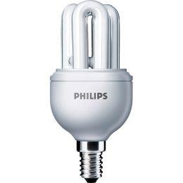 GENIE - Compact fluorescent lamp with integrated ballast - Energieeffizienz-Labe GENIE 8W WW E14 220-240V 1PF/6