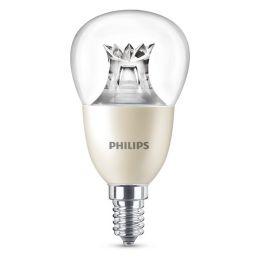 Philips LED Tropfenlampe Master 8W (60W) E14 827 240° DIMTONE klar