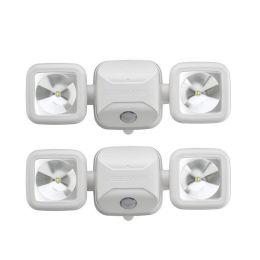 Mr Beams ultra starker LED Strahler MB3000 weiß mit Bewegungsmelder 2er Pack