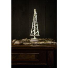 Christmas United LED Weihnachtsbaum SANTA TREE in silber-weiß 32cm batteriebetrieben