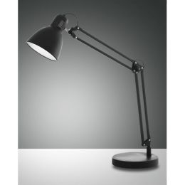 Fabas Luce klassische Tischleuchte LISETTA mit Schalter - schwarz
