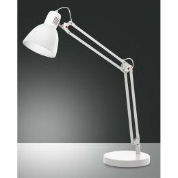 Fabas Luce klassische Tischleuchte LISETTA mit Schalter - weiß