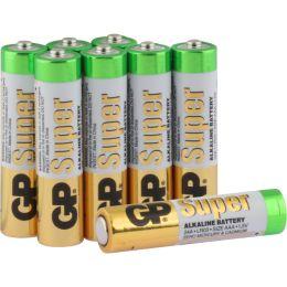 GP Batterie Super Alkaline LR03 AAA Micro 1,5V 8er