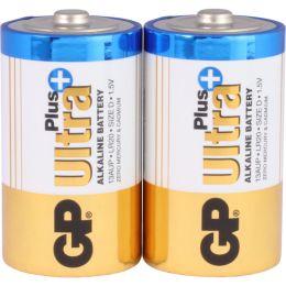 GP Batterie Ultra Plus Alkaline LR20 D Mono 1,5V 2er