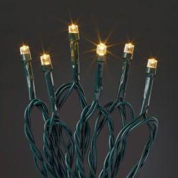 Hellum 13,9m LED Mini-Lichterkette Timer 40-tlg. outdoor kaltweiß