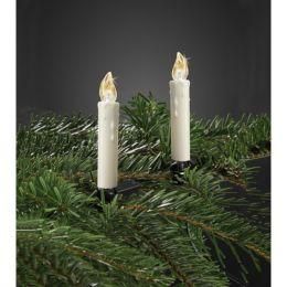 """Hellum kabellose LED Weihnachtsbaumkerzen 10er Set """"Mini"""" stehendes & flackerndes Licht"""