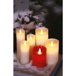 Firelamp LED Echtwachs-Kerze Flammeneffekt 33cm hoch elfenbein mit Fernbedienung