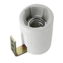 Kanlux graue Winkel Keramik-Lampenfassung E14