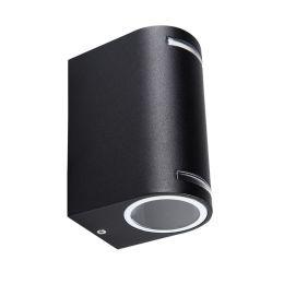 Kanlux schwarze Wandleuchte NOVIA Up/Down max. 2x20W GU10