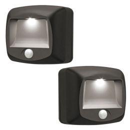 Mr Beams LED Treppenlicht braun mit Bewegungsmelder 2er Pack MB522