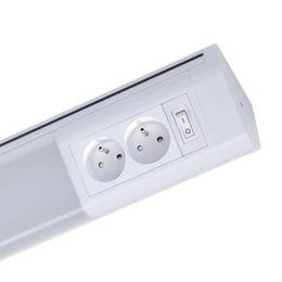 Müller Licht LED Unterbauleuchte MELO French Plug 70 dico 762mm 15W 840 NODIM mit 2 Steckdosen