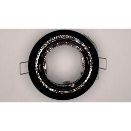 Nobile schwenkbarer Einbaustrahler für max. 50W GU5,3 in schwarz-chrom