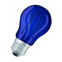 Osram blaue LED Tropfenlampe Star Decor 1,6W E27 NODIM