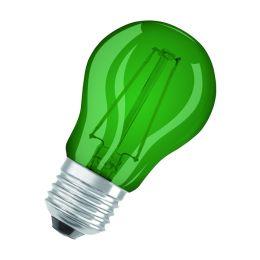 Osram grüne LED Tropfenlampe Star Decor 1,6W E27 NODIM