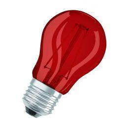 Osram rote LED Tropfenlampe Star Decor Classic P 1,6W E27 NODIM