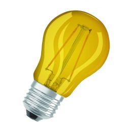 Osram gelbe LED Tropfenlampe Star Decor Classic P 1,6W E27 NODIM
