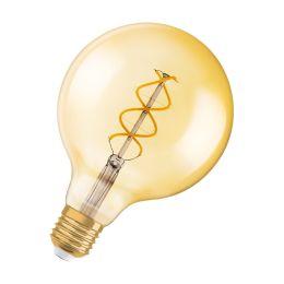 Osram LED Globelampe Ø125mm 5W (25W) E27 820 360° NODIM gold - vintage 1906