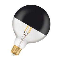 Osram LED Vintage Edition 1906 Globelampe Mirror Black 7W (52W) E27 827 360° NODIM