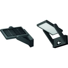 Beneito Faure Solar-LED Wandleuchte PROA PANEL 2,5W in schwarz mit Sensor