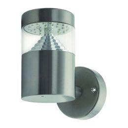 Kanlux LED Außenwandleuchte AGARA EL-14L-UP 3W edelstahl