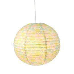 Niermann Papier-Ballon-Pendelleuchte mit Blumen-Print