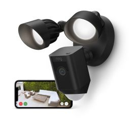 Ring Floodlight CAM Wired Plus – smarte Outdoor Überwachungskamera in schwarz