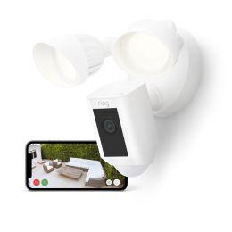 Ring Floodlight CAM Wired Plus – smarte Outdoor Überwachungskamera in weiß