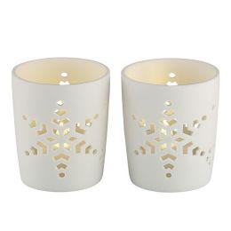 Nordlux Keramik-Teelichthalter mit LED-Teelicht Tove 2er Pack