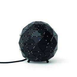 MegaLight Kugeltischleuchte SHINING FLAME BALL in schwarz-gold inkl. 3W Feuerlichtlampe