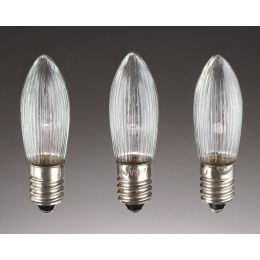 Hellum LED-Riffelkerzen 16V 0,1W E10 830 klar 3er Pack